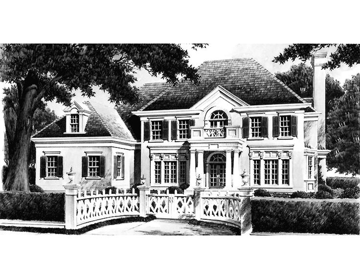 Eplans georgian house plan clayton hall from the for Historic southern house plans