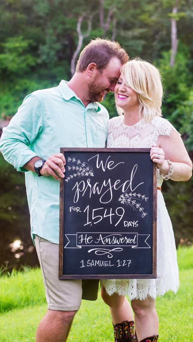 A beautiful way to announce a pregnancy plus give the credit to Him!
