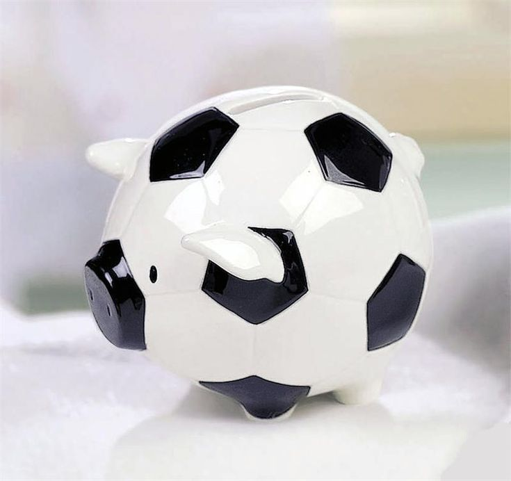 Soccer Piggy...totally getting this for my brother.