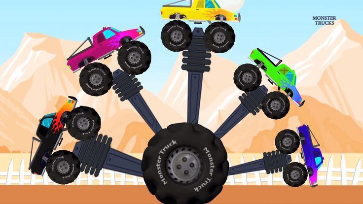 Monster Truck Finger Family | Song for Children | Vehicles Rhyme
