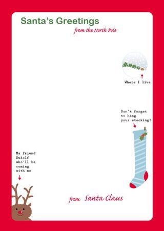 24 best christmas stationary images on pinterest free printables santa letter template spiritdancerdesigns Choice Image
