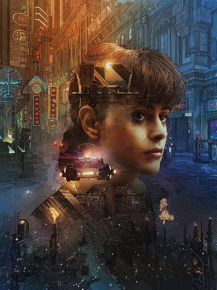 """kogaionon: """" Blade Runner cover art by Krzysztof Domaradzki for issue #143 of ImagineFX magazine. See what's inside here / Buy issue here. """""""