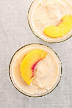 Easy Peach Fruit Smoothie Recipe 5 ounces vanilla yogurt 1½ cup fresh or frozen peaches ½ cup crushed ice ¾ cup coconut milk ¼ teaspoon ground cinnamon ½ teaspoon sugar
