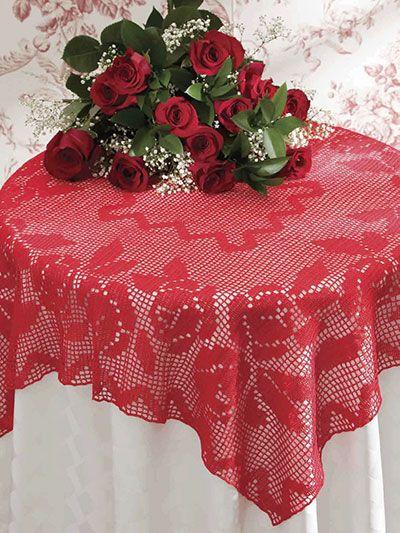 Valentine Rose Tablecloth