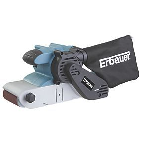 Order online at Screwfix.com. Powerful and efficient belt sander ideal for large areas. Quick-release belt change system enables quick belt replacement. Variable speed motor provides greater control. Supplied with 3 assorted sanding belts, depth gauge and carry bag. FREE next day delivery available, free collection in 5 minutes.