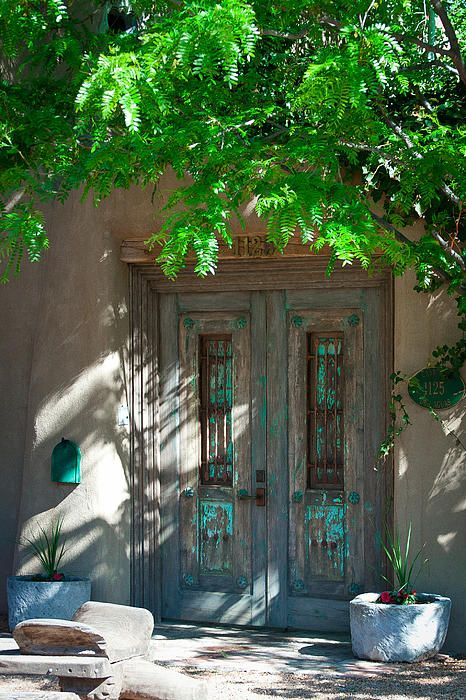one of many old and beautiful doors on Canyon Road - Santa Fe, New Mexico