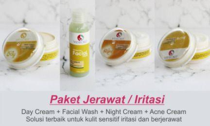 Paket Kulit Jerawat : Day Cream + Night Cream + Acne Cream + Facial Wash . Paket terbaik untuk kulit jerawat dan iritasi. Jika Anda memiiki kulit yang mudah berjerawat, sedang berjerawat banyak, bekas jerawat, atau masalah iritasi karena kesalahan pemakaian produk sebelumnya, ini sangat kami sarankan. Acne cream membantu mengatasi kulit dengan masalah tersebut. Menjadikan kulit sehat kembali, terhindar dari bakteri, menetralkan kulit wajah dari masalah iritasi. Selain itu, day serta night…