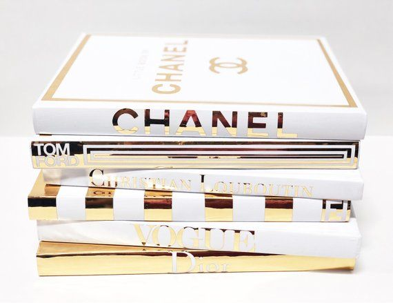 6 Large Gold White Coffee Table Designer Books Gold Home