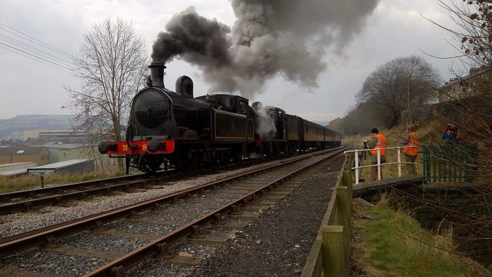 Loco No 85 loaned to Embsay & Bolton Abbey Railway from the Keighley & Worth Valley Railway
