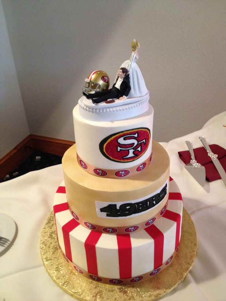 A cake from a wedding I recently attended. They love them 49'ers.