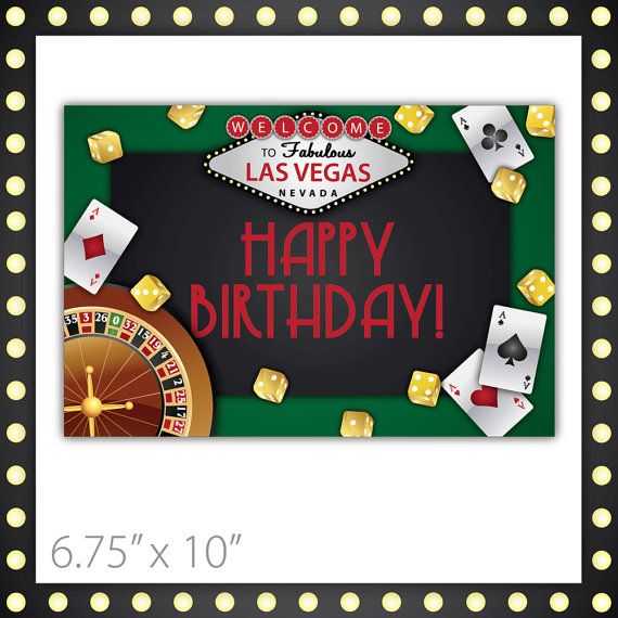 Free Birthday Vegas ~ Best images about casino party printables on pinterest retirement las vegas sign and th