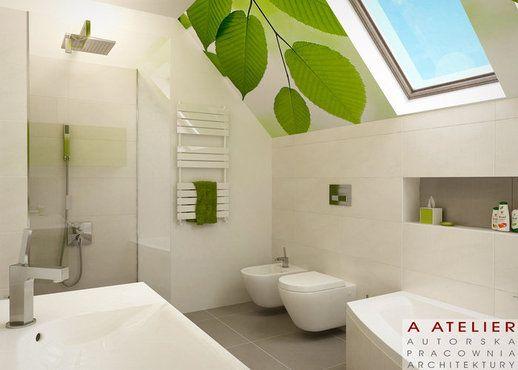 #projekt #lazienka #zielony #bathroom Topaz, A Atelier domowy.pl/projekty-wnetrz/topaz-lazienka.html