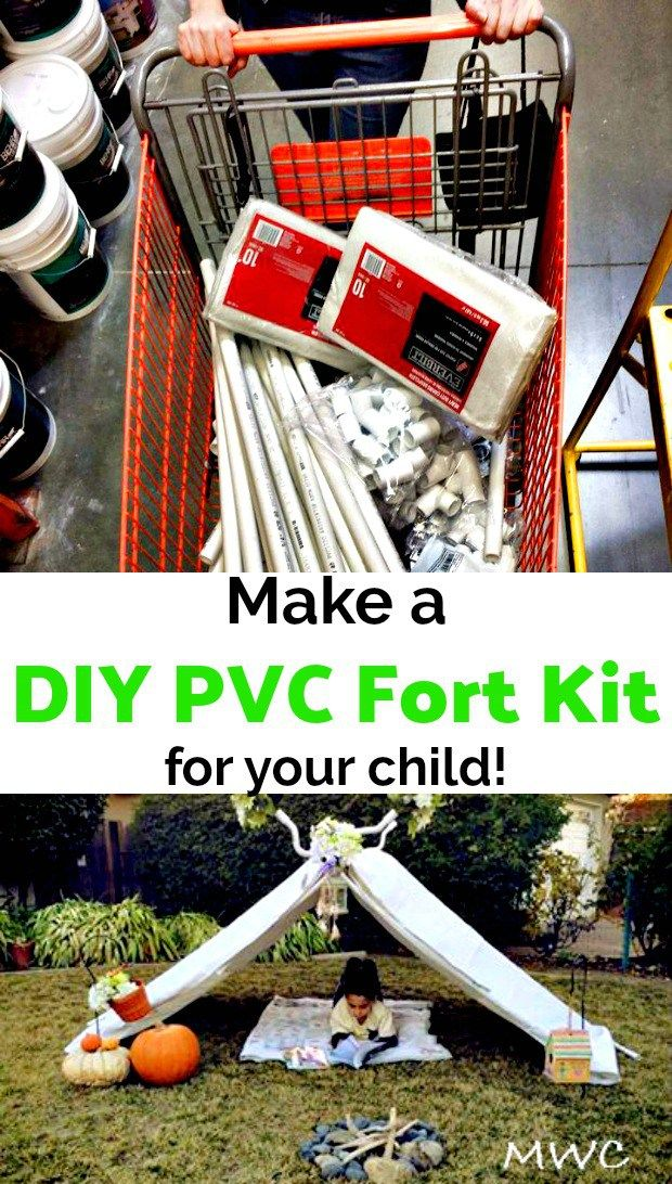 Mama's at the Hardware Store; Make a DIY PVC fort kit for your child!