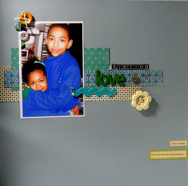 simple scrapbook page... but precious!