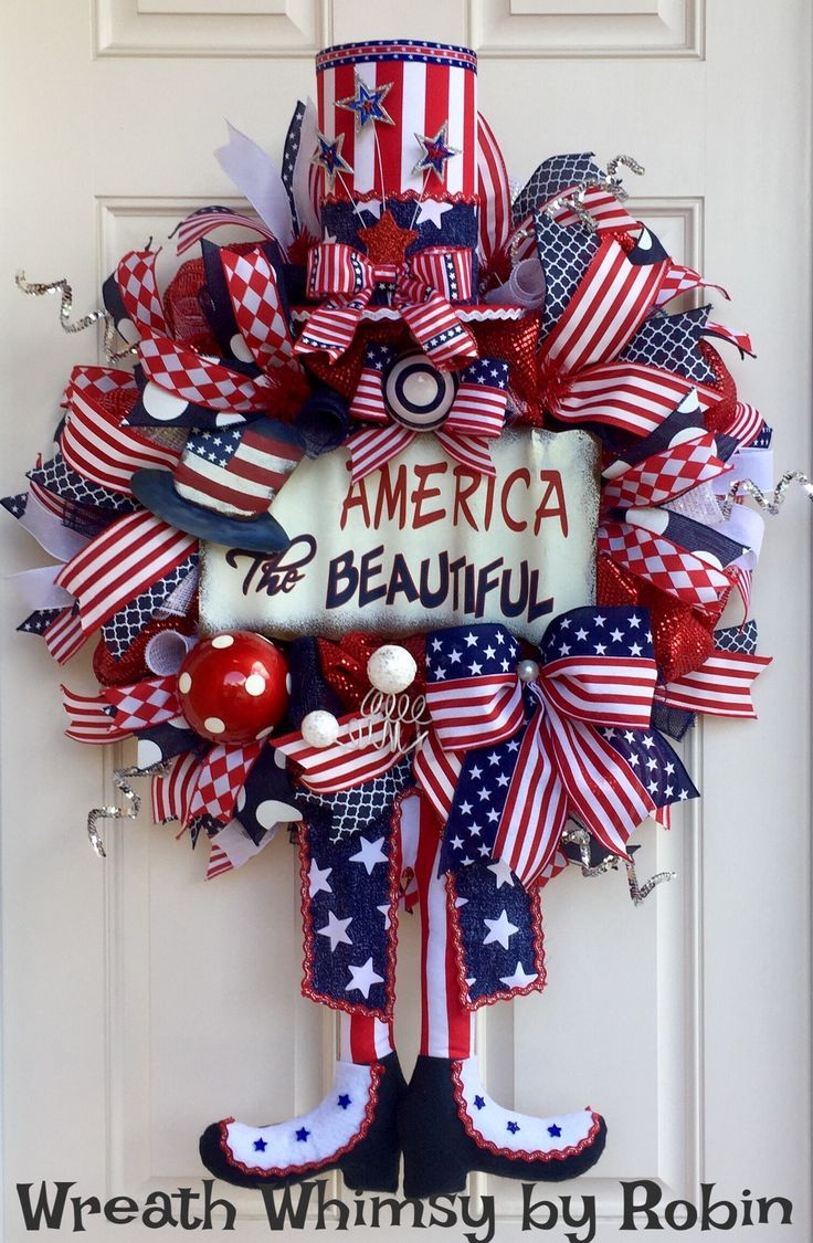 Image Result For Th Of July Wreaths For Front Door Deco Mesh