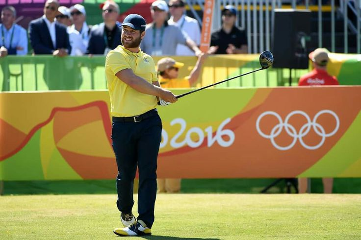 RIO DE JANEIRO, BRAZIL - AUGUST 14: David Lingmerth of Sweden plays his shot from the first tee during the final round of men's golf on Day 9 of the Rio 2016 Olympic Games at the Olympic Golf Course on August 14, 2016 in Rio de Janeiro, Brazil. (Photo by Ross Kinnaird/Getty Images) — in Rio de Janeiro, Brazil.