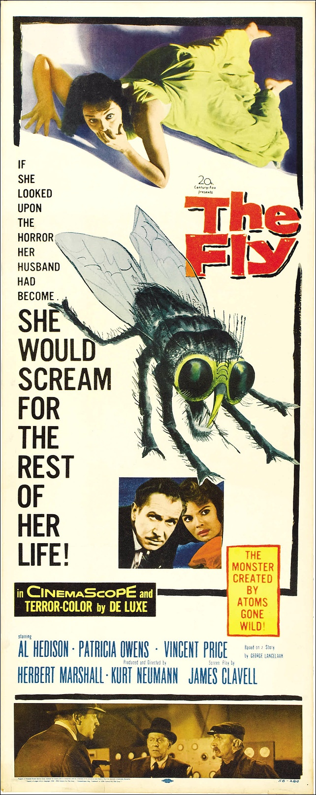 The Fly (1959)  CREEPY MATINEE MOVIE FOR A KID  This movie gave me nightmares