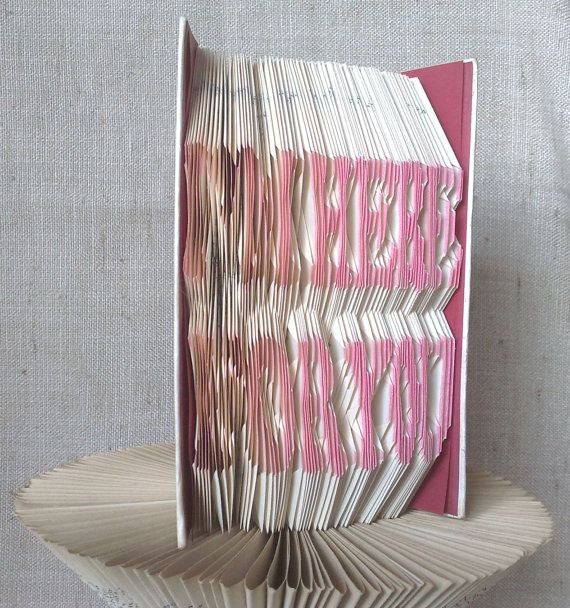Book folding pattern and FREE Tutorial - I'm Here For You - folded book art, origami, gift #bookfolding #bookfoldingpattern #foldedbookart #booksculpture #papersculpturebook #origamibook #weddinggift #weddinganniversary #birthdaygift #patterntutorial #recycledbook #homedecor #lovegift #craft #gift by #PatternsStore