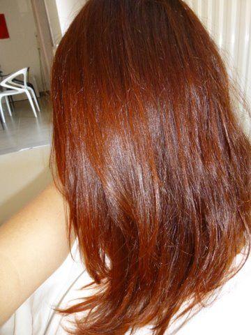 Palette de couleur de cheveux roux