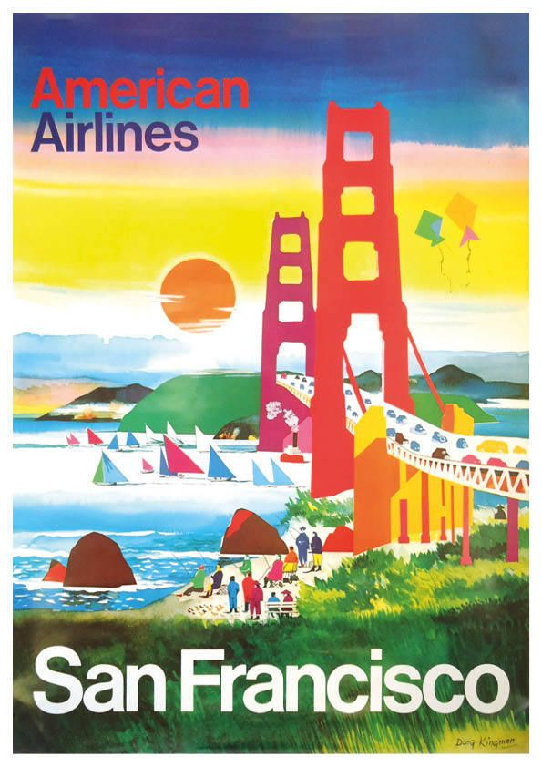 Vintage travel poster - san francisco - format a4