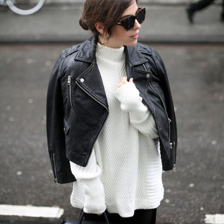 BIKER LEATHER FALL LOOK by Fiona Dinkelbach