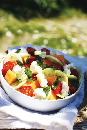 Insalata di Melone, Feta e Menta - Ricette