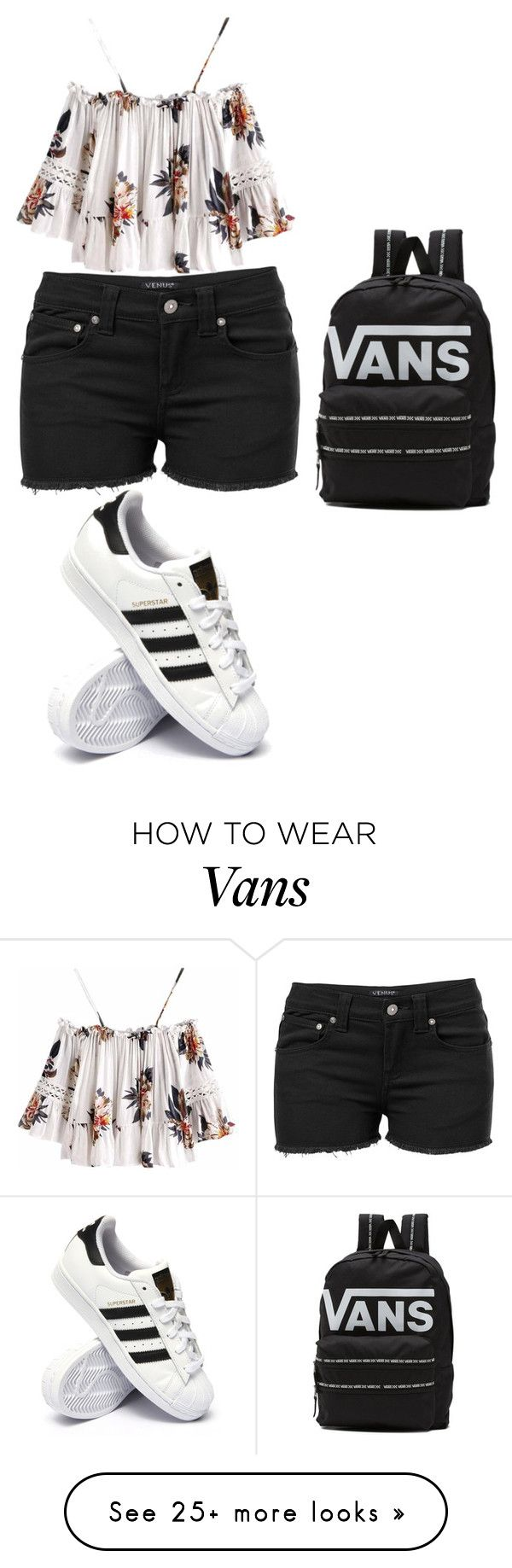 """FASHION AND STYLE"" by sayurienoch-dcxxi on Polyvore featuring Venus, adidas and Vans"