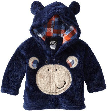 Amazon.com: Boys Rock Baby-Boys Infant Monkey Plush Hoodie: Clothing $15.60