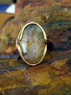 Macintosh Ring Tutorial   Rock Tumbling Hobby awesome wire wrap cabochon tutorial!