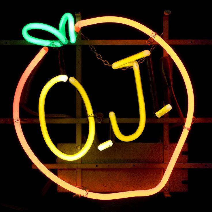 O.j. w/orange / neon sign Neon signs, Neon, Yellow aesthetic