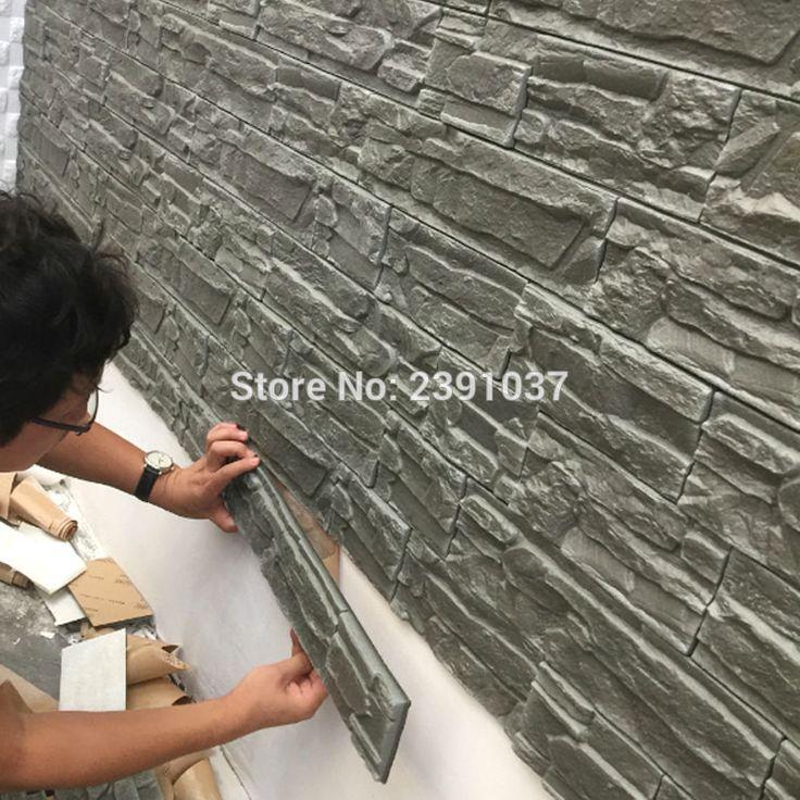 12pcs 71*39cm New PE Foam 3D 3d wall panels Flexiable Brick 3d wall panel decorative wall panel decorative plastic wall panels