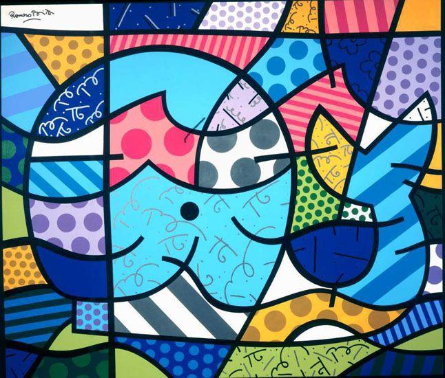Brendan's Whale (2000) by Brazilian artist Romero Brito