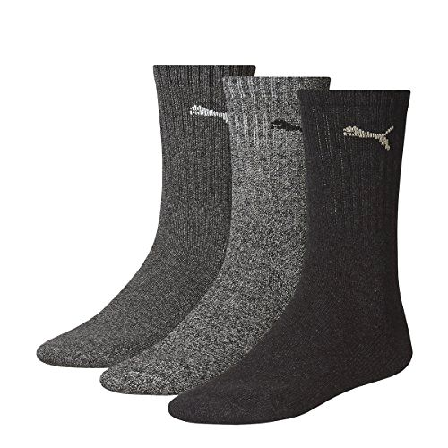 Uk 6-8 Grey Pack Of 3 Puma Sports Socks Made by #PUMA Color #Grey. Puma sports sock, 3 pack. Made from soft and durable cotton, polyester and #elastodiene mix fabric. #Extra flat toe seam for extra comfort. Moisture wicking effect keeps feet comfortable and dry. Ideal worn under sport shoes for all activities