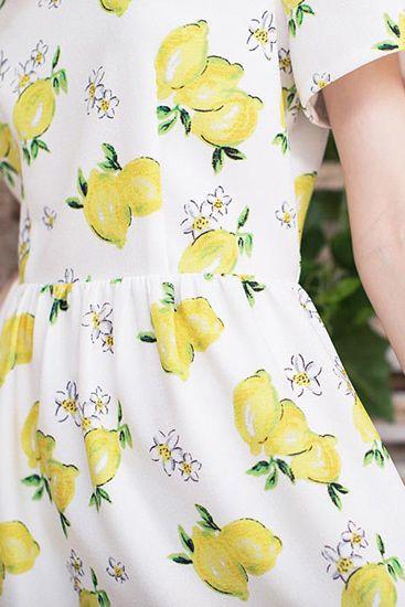 Miss Patina/ミス・パティーナ - Print Me Pretty レモンプリントワンピース - SIAMESE (サイアミーズ) オンラインセレクトショップ #MissPatina #ミスパティーナ #イギリス #ロンドン #ブランド #ファッション #レディース #TaylorSwift #ボーダー #レモン #フルーツ #イラスト #イラストレーション #パターン #アート #リボン #ワンピース #コーディネート #コーデ #dress #ootd #TOPSHOP #ASOS #SIAMESE