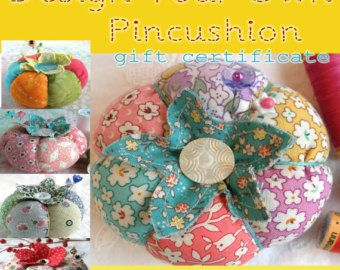 Gift Certificate- Design Your Own Classic Tomato Pincushion-  Made to Order- includes shipping