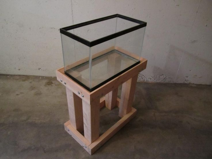 Hydroponic and Aquaponic Gardening: Home Built Fish Tank Stand