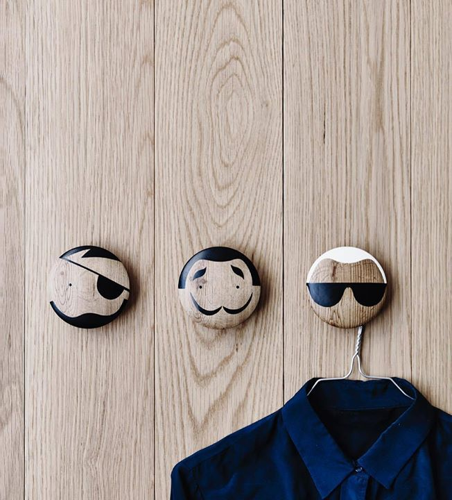 We can't get enough of these amazing wall hooks supplied from By Design Co. Made from Oak these quirky designs by Lucie Kaas can be used on walls or drawers and would look fab in a kid's room hallway or office. Search 'by design' for details #blockshopper http://ift.tt/2rE6jON