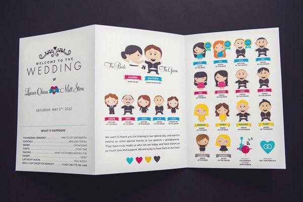 adorable wedding program by bride and groom // photo by AngelaReneePhoto.com
