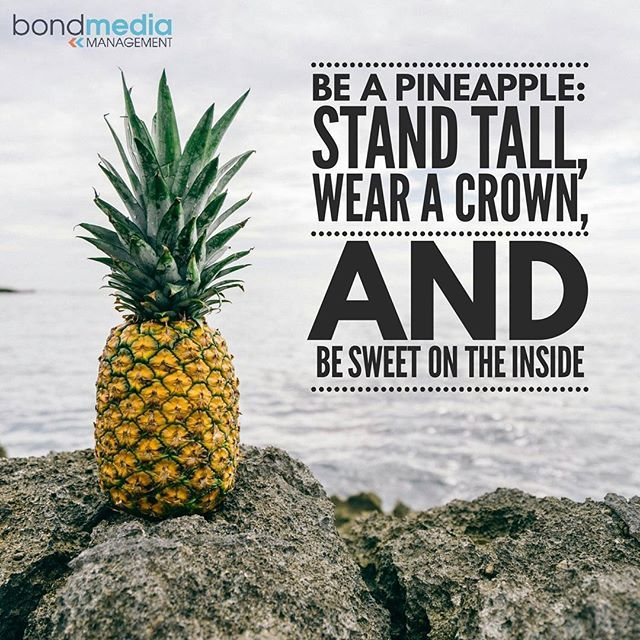 Quote: Be like a Pineapple  For more......... follow me on Instagram xx