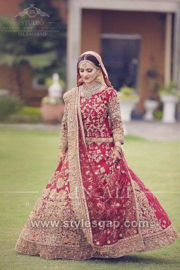 1181e74aaf Latest Bridal Lehenga Designs Collection for Pakistani Indian & Asian Brides  (25)