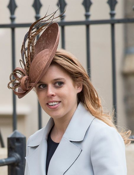 Princess Beatrice attends the Easter Sunday Service at St George's Chapel on March 27, 2016 in Windsor, England