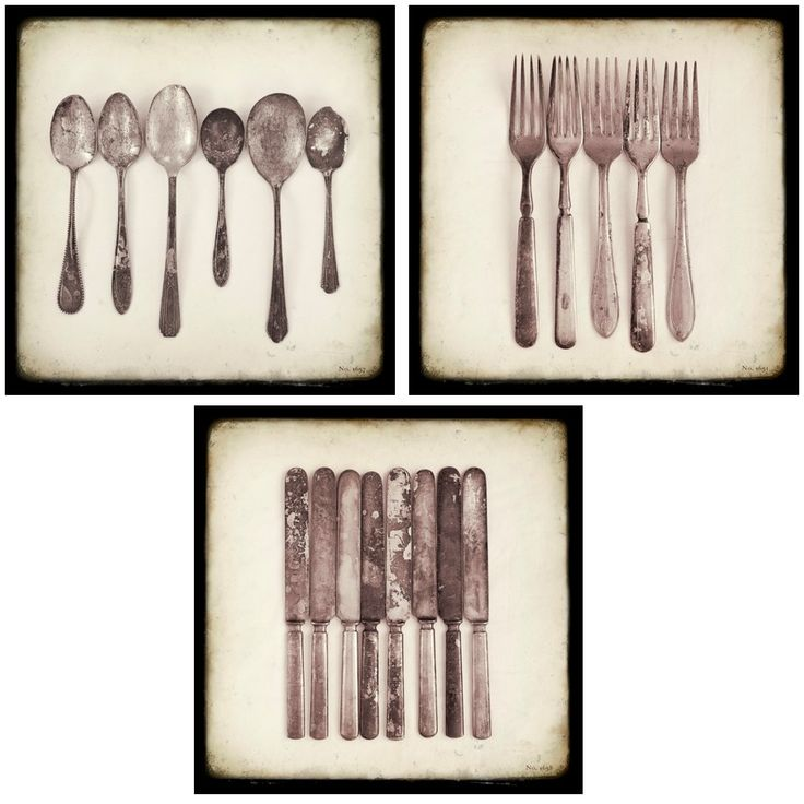 "something about the simplicity of old cutlery lined up ""just so"""