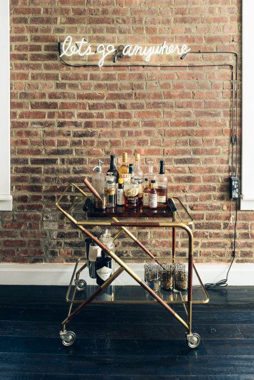 Alisa Richter of Small Girls PR and Barrett Sheridan's West Village apt - photo by Charles Avdlett, via Design*Sponge