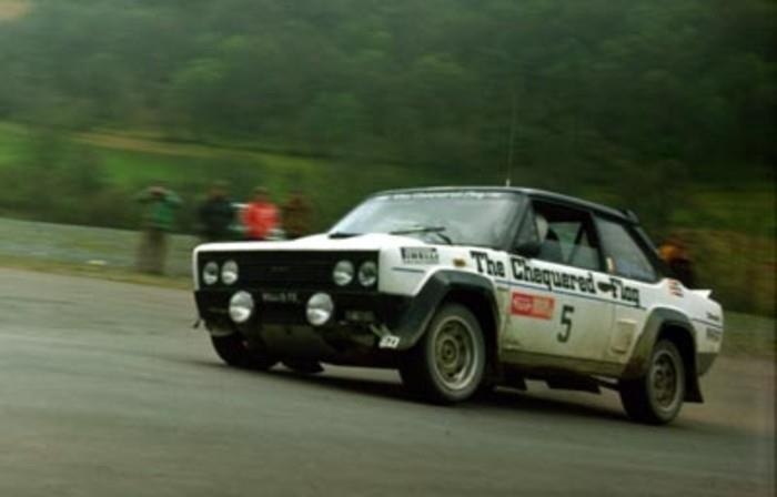 ra Billy Coleman-Dave Richards-Fiat 131 Abarth Gr.4-The Chequered Flag Team-Welsh International Rally 1976