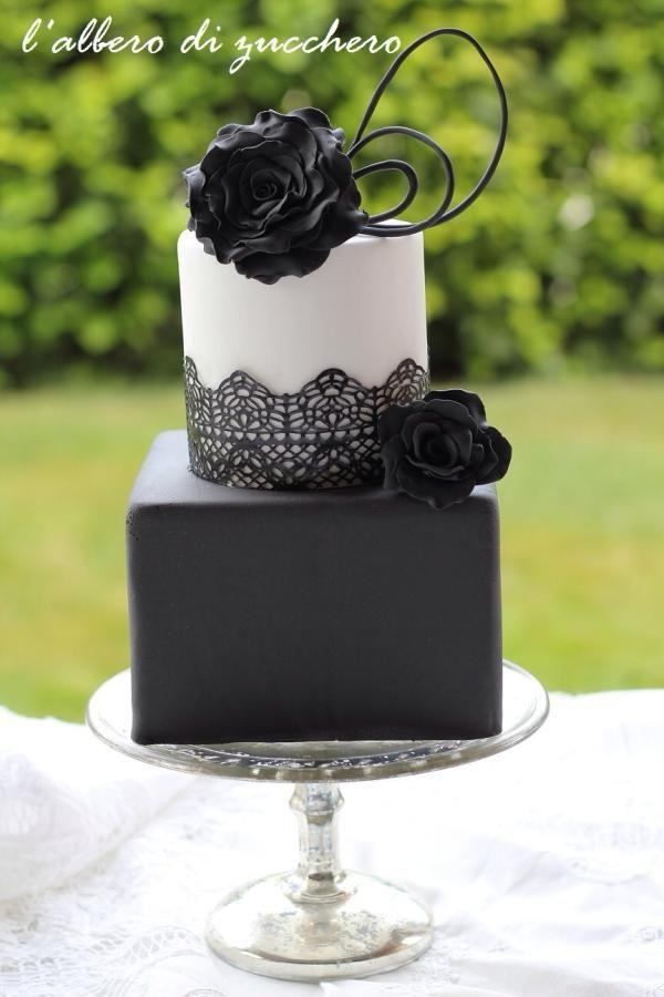Black & White passion - Cake by L'albero di zucchero