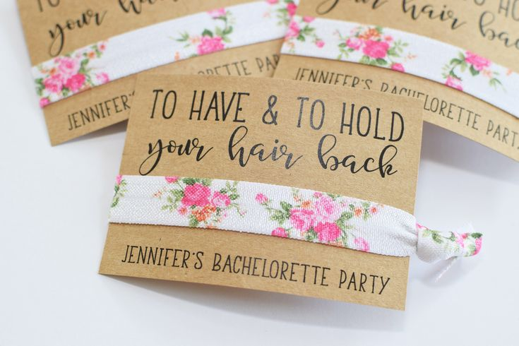 Bachelorette Party Favors//To Have & To Hold Your Hair Back//Bachelorette Party//Elastic Hair Tie//Creaseless Hair Tie by MelissaLynneDesign on Etsy https://www.etsy.com/listing/245115246/bachelorette-party-favorsto-have-to-hold