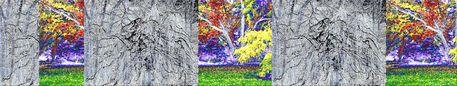 """'Bänderbild """"Der Waldfries""""' von Rudolf Büttner bei artflakes.com als Poster oder Kunstdruck $18.71"""