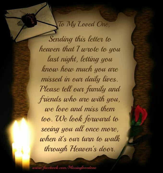 To My Dear Dad In Heaven.....love You X