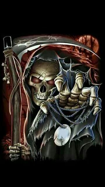 Pin by Shelley shellbellz Hatton on Don't Fear The Reaper! | Grim reaper art, Skull, Reaper tattoo
