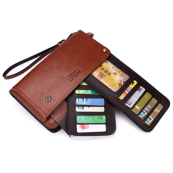 New Arrival High Capacity Men Clutch Wallet Rotatable Card Holder Wallet